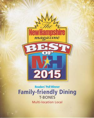 New Hampshire Magazine's Best of NH 2015 Award Winner: Family-Friendly Dining
