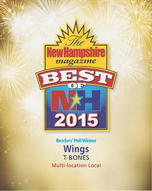 New Hampshire Magazine's Best of NH 2015 Award Winner: Wings
