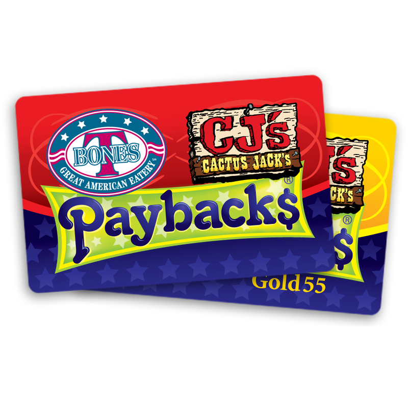 T-Bones and Cactus Jack's Payback$ Card