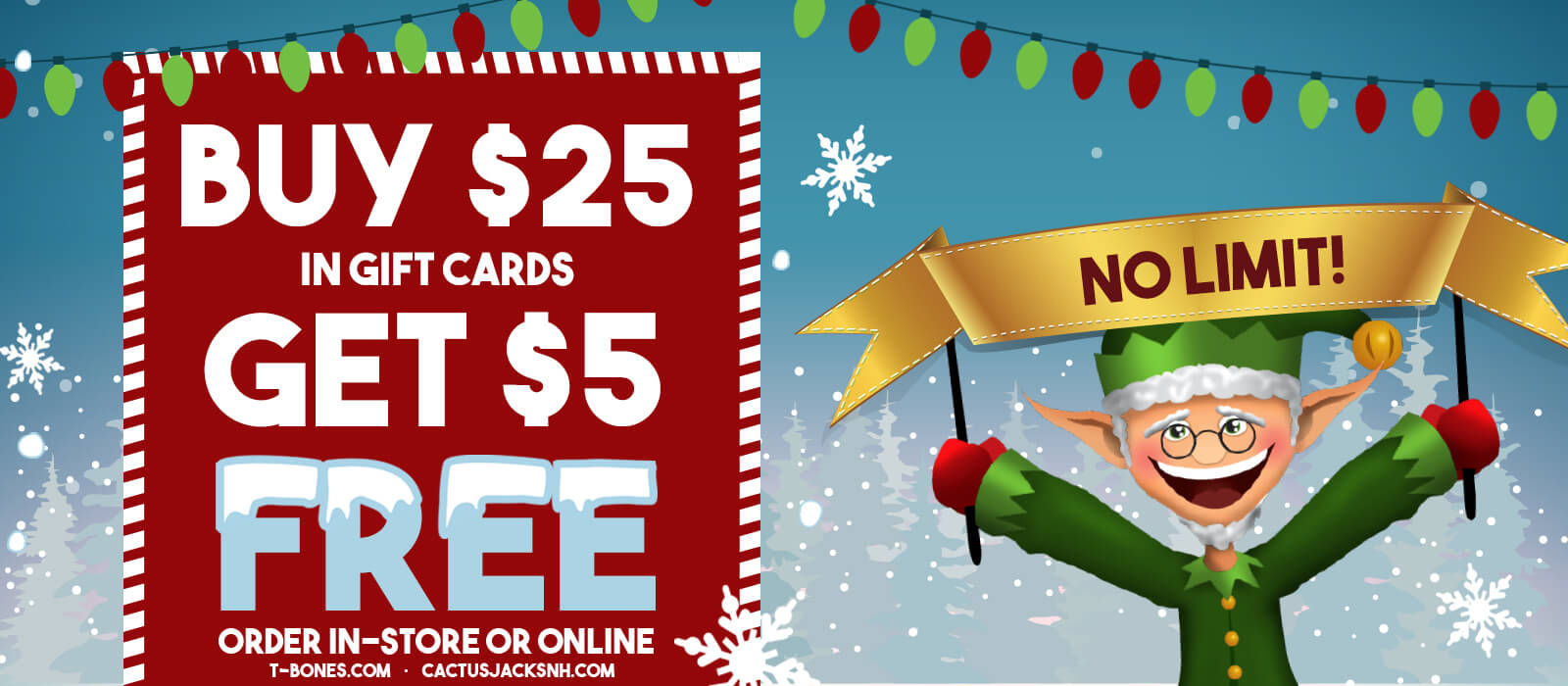 Our Buy $25 Get $5 Gift Cards or eGift Card Deal is Back!
