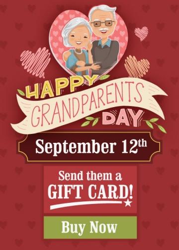 Send Them Gift Cards to Celebrate Grandparent's Day at T-BONES Restaurants