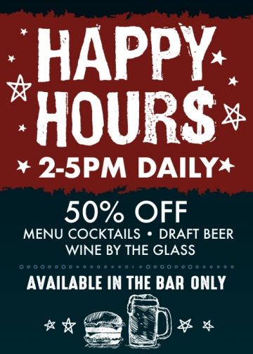 Happy Hours 2-5PM Daily