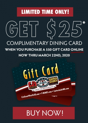 Gift Card Deal is Here! Buy $50 Get $25